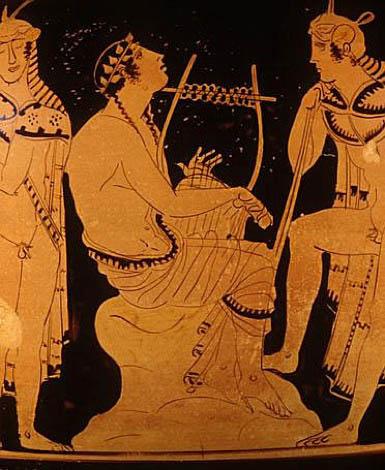 Orpheus op aardewerk