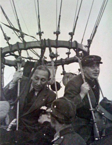 Van Schelle (l.) en Quersin, Warschau, 1934