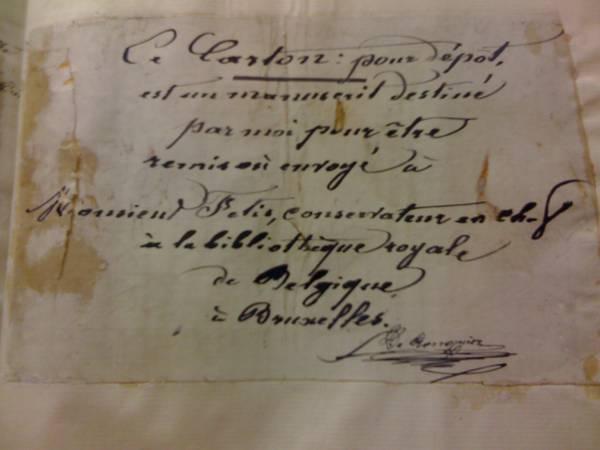 Th. De Ronquier, Etude et extraits sur l'histoire universelle, Afdeling handschriften, KB