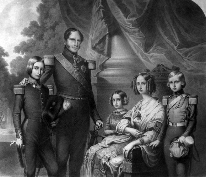 Koning Leopold I en zijn gezin