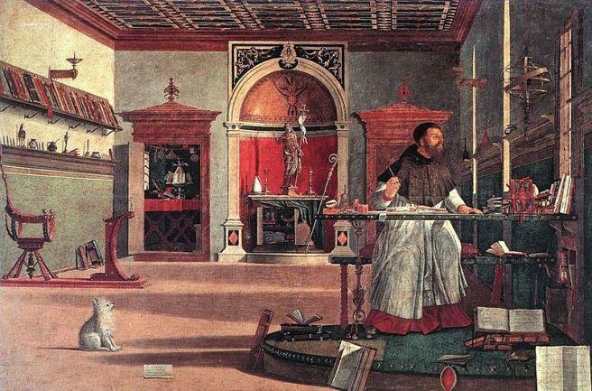 Carpaccio, Augustinus in zijn studeerkamer, Scuola di S. Giorgio degli Schiavoni, Venetië