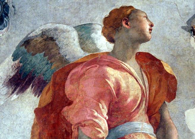 Pontormo, verkondiging, Capponikapel, Santa Felicita, Firenze (Foto R. Baldwin)