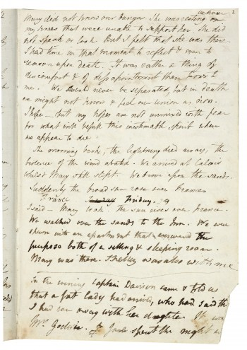 Elopement Journal van Percy en Mary Shelley, Bodleian Library, Oxford