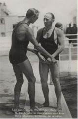 Arne Borg en Martial Van Schelle, twee zwemkampioenen uit het interbellum