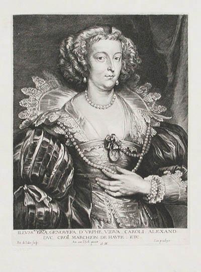 A. van Dyck, P. de Jode, Geneviève d'Urfé, 1645