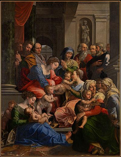 Michiel Coxcie, De heilige maagschap, Stift Kremsmünster