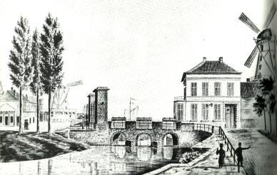 Brusselse Poort (Keizerpoort), Gent. J.J. Wynants, Atlas Goetghebuer