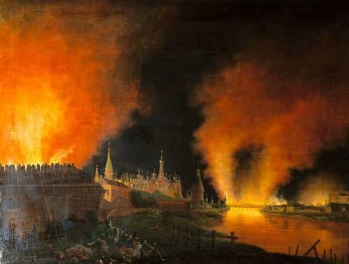 J.C. Oldendorp, De brand van Moskou, Deutsches Historisches Museum, Berlin