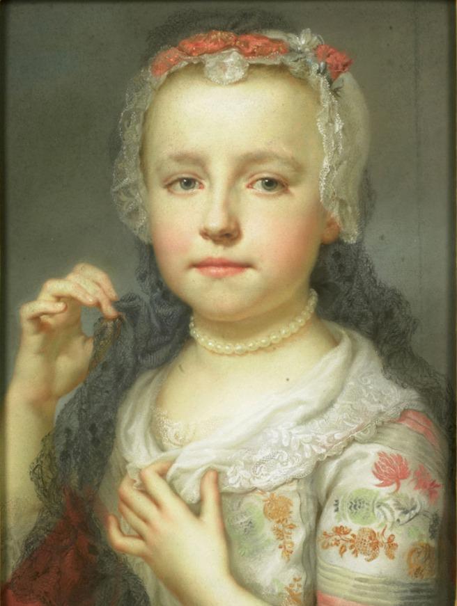 A.R. Mengs, Portret van Julia Carlotta Mengs, Rijksmuseum Amsterdam