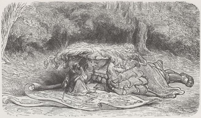 Gustave Doré, illustratie bij Gargantua en Pantagruel