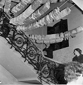 Drogende boeken in Accademia dei Georgofili, 1966