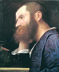 Titiaan, Portret van Pietro Aretino, ca. 1512?, Milaan?