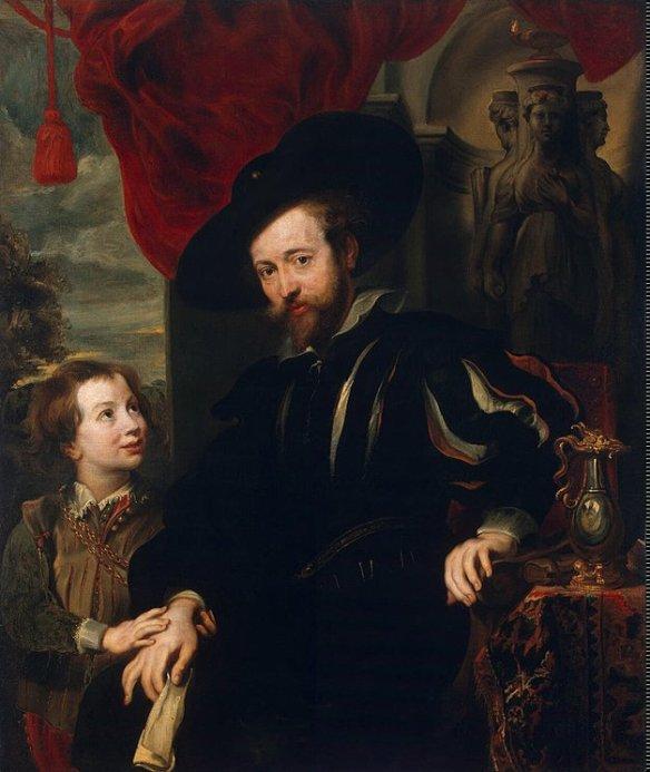 P.P. Rubens en zijn zoon Albert, Stroganov Paleis, Leningrad