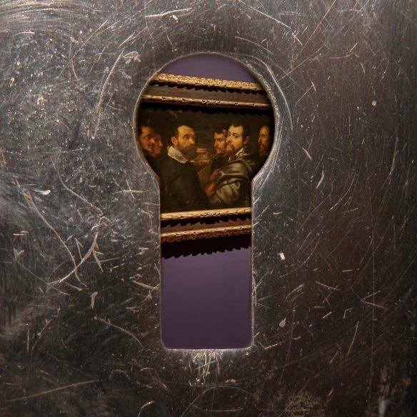 Rubens, Zelfportret met vrienden in Mantua, nu te zien in het Rubenshuis