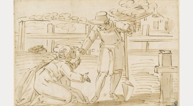 Luca Cambiaso, Ontmoeting tussen Maria Magdalena en de hovenier, Fitzwilliam Museum, Cambridge