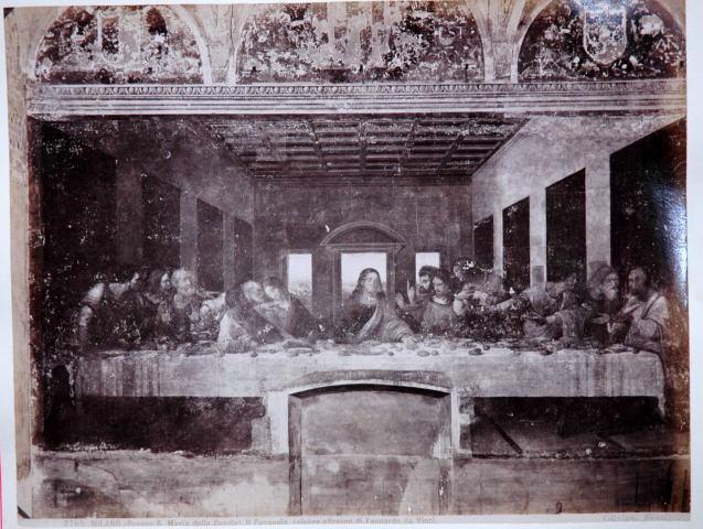 Giacomo Brogi, Eetzaal met laatste Avondmaal, S. Maria delle Grazie, Milaan, ca. 1875