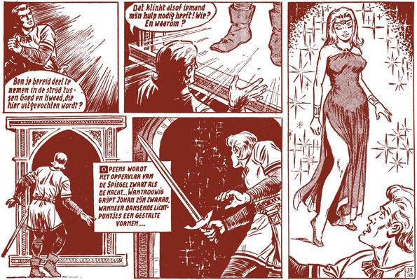 De rode ridder in 'De Toverspiegel ', nr. 58