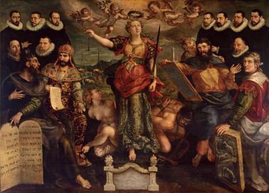 Maarten de Vos, De vierschaar vand e Brabantse Munt, 1594, Antwerpen, Rockoxhuis