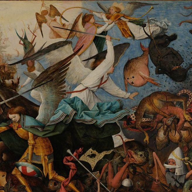 Pieter Bruegel, Val van de opstandige engelen, 1562, Brussel, KMSK.