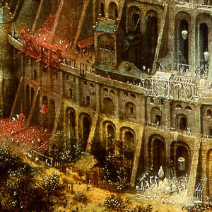 Pieter bruegel, Toren van Babel (detail), Museum Boijmans van Beuningen, Rotterdam