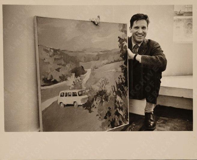 Fairfield Porter met schilderij