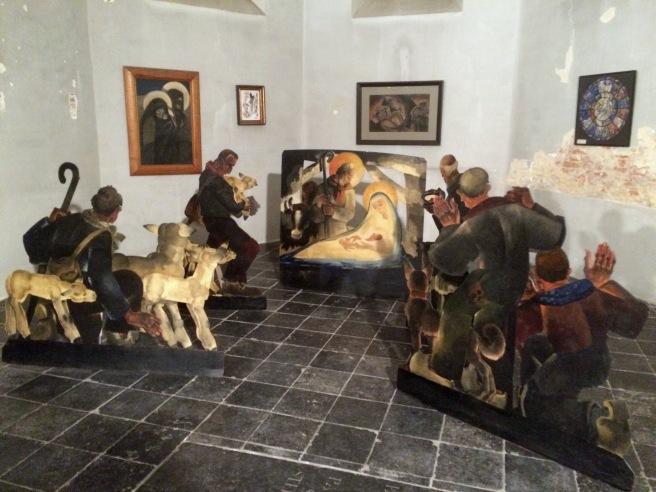 Kerstbeelden van Jan Huet in Wortel (foto S. Huet)