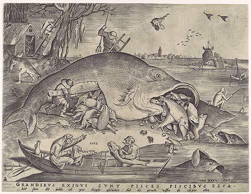 Pieter Bruegel, De grote vissen eten de kleine, Metropolitan Museum, New York