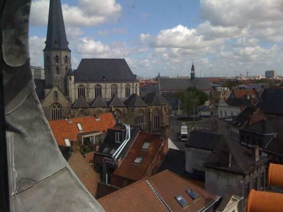Uitzicht op de Sint-Jacobskerk, Gent