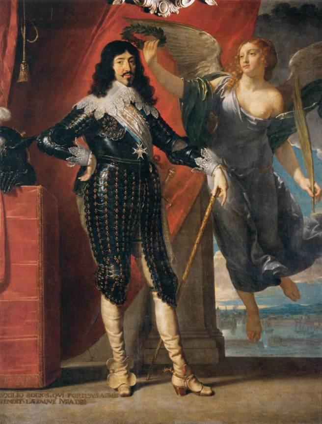 Philippe de Champaigne, Lodewijk XIII gekroond door de overwinning, Parijs, Louvre