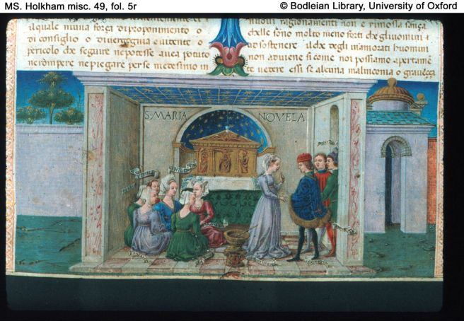 Manuscript_from_the_Decameron_by_Giovanni_Decameron,_illustrated_by_Taddeo_Crivelli_(1467)